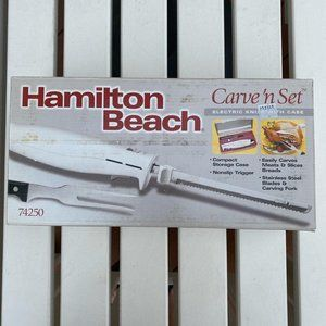 NWB! Hamilton Beach Carving Set in White